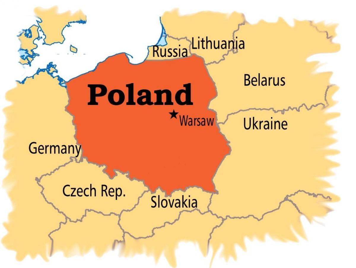 Varsovan Kartta Euroopan Kartta Varsova Eurooppa Masovia Puola