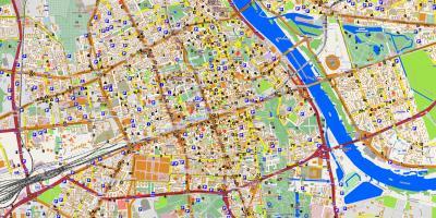 Varsovan Kartta Kartat Varsova Masovia Puola